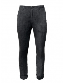 Mens trousers online: John Varvatos gray trousers with crease