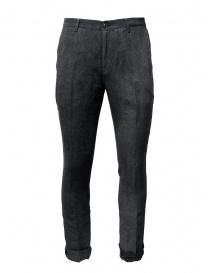 John Varvatos pantaloni grigi con la piega online