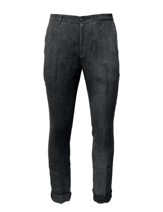 John Varvatos gray trousers with crease J293W1 BSLD GREY 032 REG mens trousers online shopping