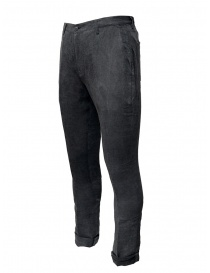 John Varvatos gray trousers with crease buy online