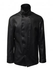 John Varvatos giacca doppiopetto nera lucida online