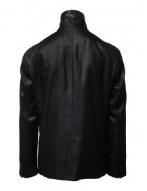 John Varvatos giacca doppiopetto nera lucida