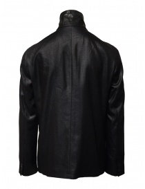 John Varvatos shiny black double-breasted jacket