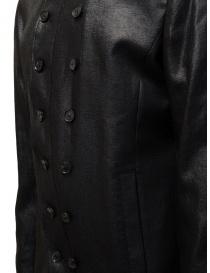 John Varvatos giacca doppiopetto nera lucida prezzo
