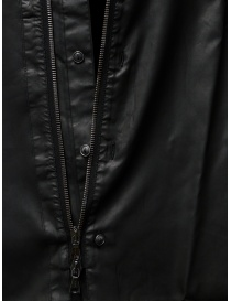 John Varvatos black rubberized shirt with zip and buttons mens shirts buy online