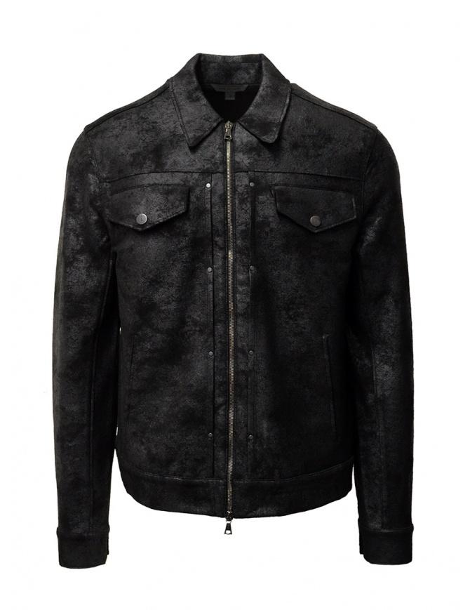 John Varvatos black trucker jacket K3264W1 BRG23 BLK 001 mens jackets online shopping