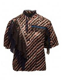 Camicie donna online: Kolor camicia a stampa metallizzata con ruches
