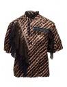 Kolor metallic printed shirt with ruffles buy online 20SCL-B04124 BROWN