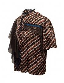 Kolor camicia a stampa metallizzata con ruches