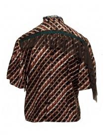 Kolor metallic printed shirt with ruffles price
