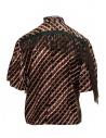 Kolor metallic printed shirt with ruffles 20SCL-B04124 BROWN price