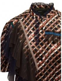 Kolor metallic printed shirt with ruffles womens shirts buy online