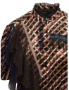 Kolor metallic printed shirt with ruffles 20SCL-B04124 BROWN buy online