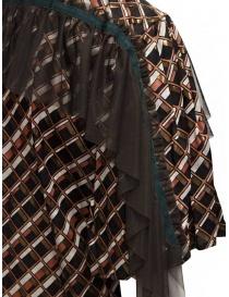 Kolor metallic printed shirt with ruffles womens shirts price