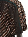 Kolor metallic printed shirt with ruffles price 20SCL-B04124 BROWN shop online