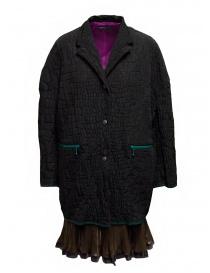 Kolor black crocodile effect coat online