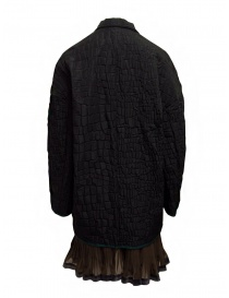 Kolor black crocodile effect coat buy online