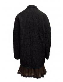 Kolor cappotto nero effetto coccodrillo