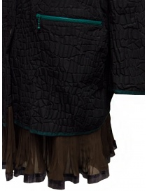 Kolor cappotto nero effetto coccodrillo prezzo