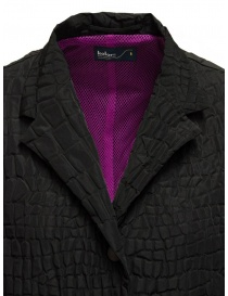 Kolor black crocodile effect coat womens coats buy online