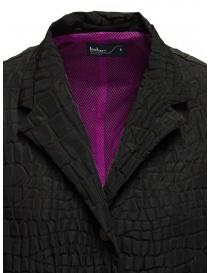 Kolor cappotto nero effetto coccodrillo cappotti donna acquista online