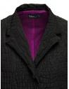 Kolor cappotto nero effetto coccodrillo 20SCL-C01106 BLACK acquista online