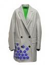 Kolor cappotto grigio in nylon con fiori blu acquista online 20SCL-C05101 GRAY