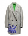 Kolor gray nylon coat with blue flowers buy online 20SCL-C05101 GRAY
