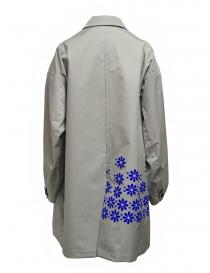 Kolor cappotto grigio in nylon con fiori blu prezzo