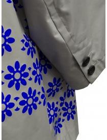 Kolor cappotto grigio in nylon con fiori blu cappotti donna prezzo