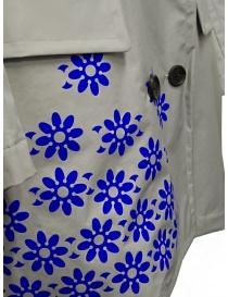 Kolor cappotto grigio in nylon con fiori blu acquista online prezzo