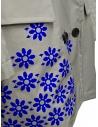 Kolor cappotto grigio in nylon con fiori blu prezzo 20SCL-C05101 GRAYshop online