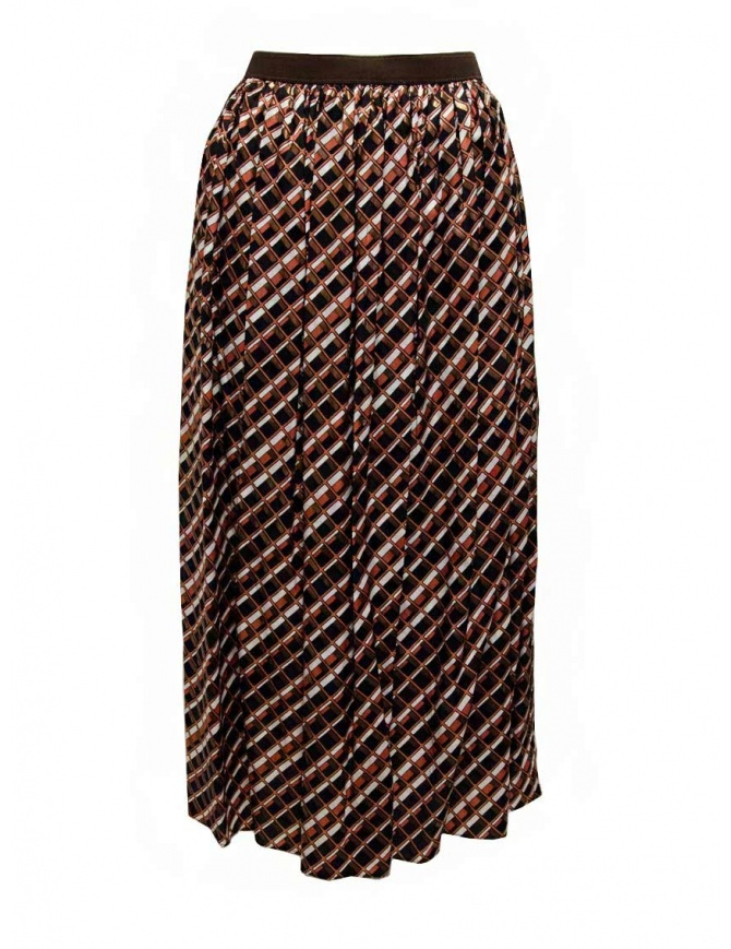 Kolor gonna a stampa geometrica metallizzata 20SCL-S06124 BROWN gonne donna online shopping