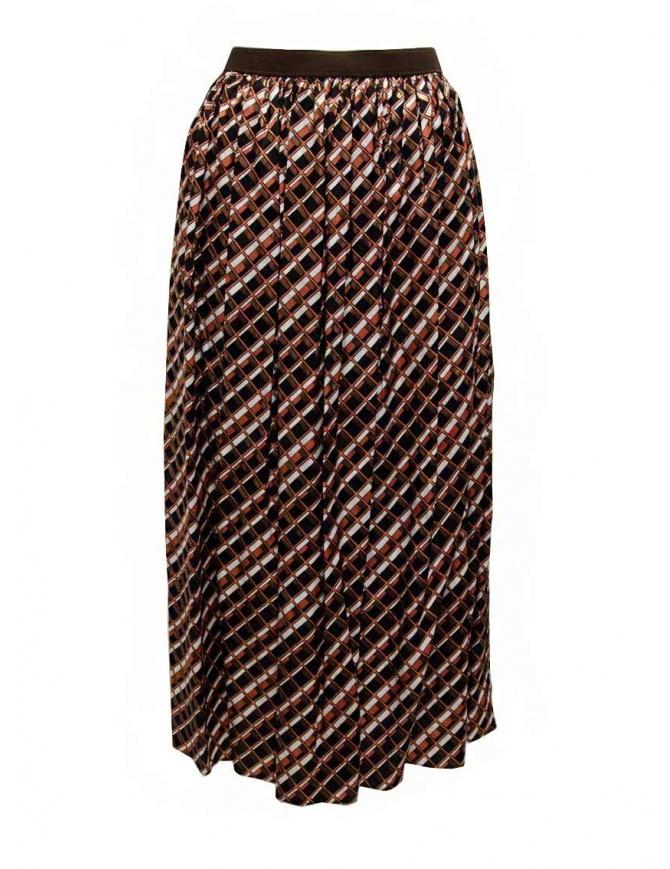 Kolor metallic geometric print skirt 20SCL-S06124 BROWN womens skirts online shopping