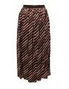Kolor metallic geometric print skirt buy online 20SCL-S06124 BROWN