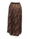 Kolor metallic geometric print skirt 20SCL-S06124 BROWN price