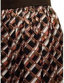 Kolor metallic geometric print skirt womens skirts buy online