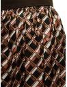 Kolor metallic geometric print skirt 20SCL-S06124 BROWN buy online