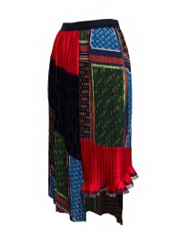 Kolor pleated patchwork skirt