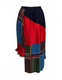 Kolor pleated patchwork skirt price