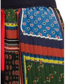 Kolor pleated patchwork skirt womens skirts buy online