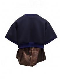 Kolor short sweatshirt with metallic ruffle price