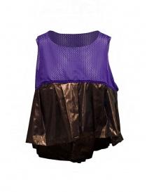 Kolor short sweatshirt with metallic ruffle womens knitwear buy online
