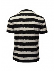John Varvatos white and black horizontal striped t-shirt