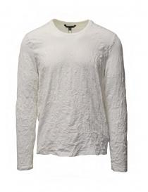 T shirt uomo online: John Varvatos t-shirt bianca cotone stropicciato