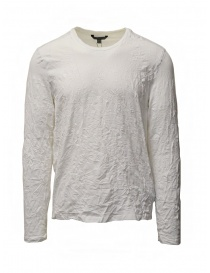 John Varvatos white crumpled cotton t-shirt online