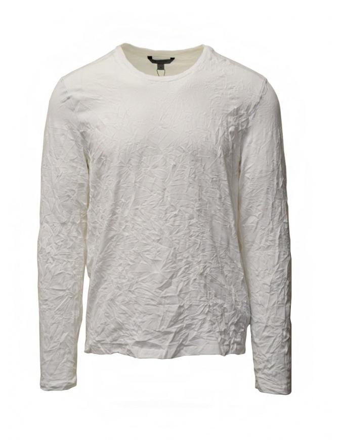 John Varvatos t-shirt bianca cotone stropicciato K3268W1 BTS19 WHT 100 t shirt uomo online shopping