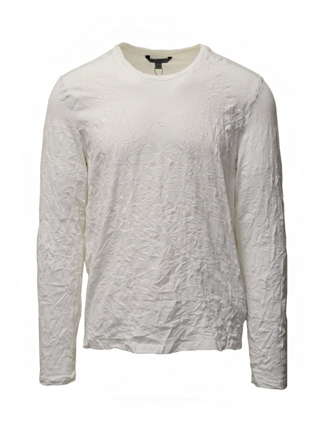 John Varvatos white crumpled cotton t-shirt K3268W1 BTS19 WHT 100 mens t shirts online shopping