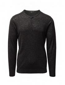 Maglieria uomo online: John Varvatos maglia in lino nera con bottoni