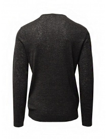 John Varvatos black linen sweater with buttons